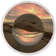 10-27-16--1914 Don't Drop The Crystal Ball, Crystal Ball Photography Round Beach Towel