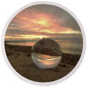 10-27-16--1918 Don't Drop The Crystal Ball, Crystal Ball Photography Round Beach Towel