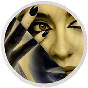 Adele Collection Round Beach Towel