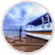 Bali Sunrise Round Beach Towel