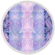 Floral Abstract Design-special Silk Fabric Round Beach Towel
