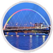 Glasgow, Scotland Round Beach Towel
