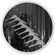 10 Hangers In Black And White Round Beach Towel