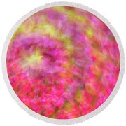 Impression Series - Floral Galaxies Round Beach Towel by Ranjay Mitra