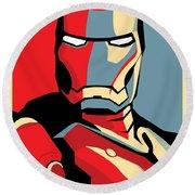 Iron Man Round Beach Towel by Caio Caldas