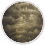May Nebraska Storm Cells Round Beach Towel