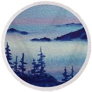10 Mile Overlook Round Beach Towel