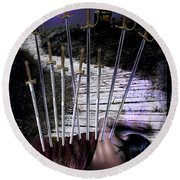 10 Of Swords Round Beach Towel