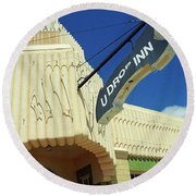 Route 66 - Conoco Tower Station Round Beach Towel
