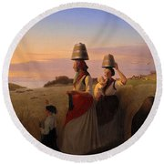 Rural Scene Round Beach Towel