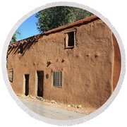 Santa Fe - Adobe Building Round Beach Towel