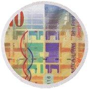 10 Swiss Franc Pop Art Bill Round Beach Towel