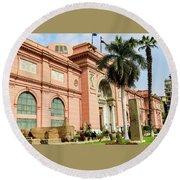 Horse 2 - The Egyptian Museum Of Antiquities - Cairo Egypt Round Beach Towel