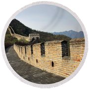 The Mutianyu Section Of The Great Wall Of China, Mutianyu Valley Round Beach Towel