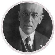 Woodrow Wilson (1856-1924) Round Beach Towel
