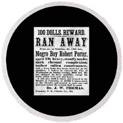 100 Dolls. Reward Ran Away Round Beach Towel