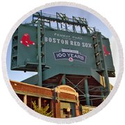 100 Years At Fenway Round Beach Towel