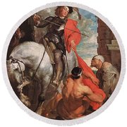 10298 Anthony Van Dyck Round Beach Towel
