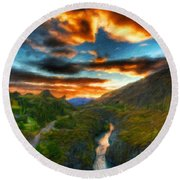 Nature Landscapes Prints Round Beach Towel
