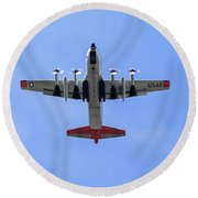 109th Air Guard Schenectady Round Beach Towel