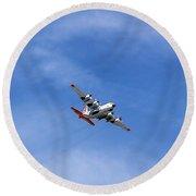 109th Air Guard Schenectady N.y. Round Beach Towel