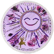 10th Day Of Christmas Round Beach Towel