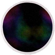 Abstract Stars Nebula Round Beach Towel