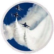Air Show Round Beach Towel