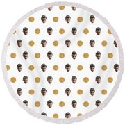 11 And Waffles Round Beach Towel