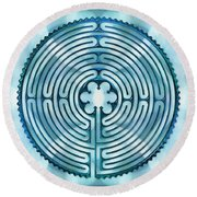 11 Chartres - Beyond Sky Round Beach Towel