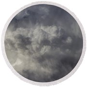 First Nebraska Storm Chase 2015 Round Beach Towel