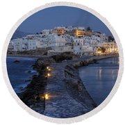 Naxos - Cyclades - Greece Round Beach Towel