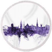 Newcastle England Skyline Round Beach Towel