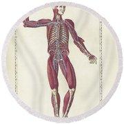 The Science Of Human Anatomy Round Beach Towel