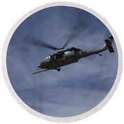 U.s. Air Foce Hh-60g Pave Hawk Round Beach Towel