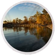 Autumn Beach - The Splendor Of Fall On The Shores Of Lake Ontario Round Beach Towel