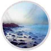 Nature Art Original Landscape Paintings Round Beach Towel