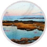 Landscape Definition Nature Round Beach Towel