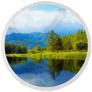 Landscape Definition Nature Round Beach Towel