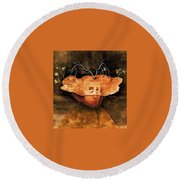 11596 Remedios Varo Round Beach Towel