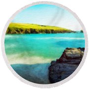 Nature Cool Landscape Round Beach Towel