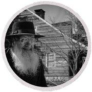 Amish Life Round Beach Towel