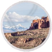 Arches National Park  Moab  Utah  Usa Round Beach Towel