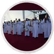 Dubai Travelers Festival Round Beach Towel