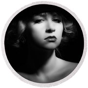 Film Noir Round Beach Towel