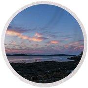 Lubec, Maine Round Beach Towel
