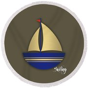 Nautical Collection Round Beach Towel
