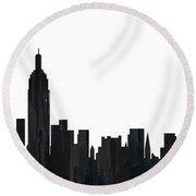 New York New York Skyline  Round Beach Towel