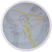 Slain In The Holy Spirit Round Beach Towel
