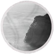 Soberanes Point Big Sur California Sunset Round Beach Towel